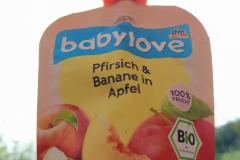 Babylove Bio Broskev, jablko a banány